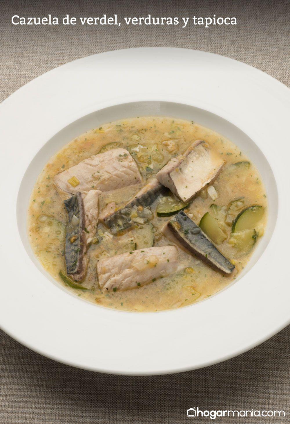 Cazuela de verdel, verduras y tapioca