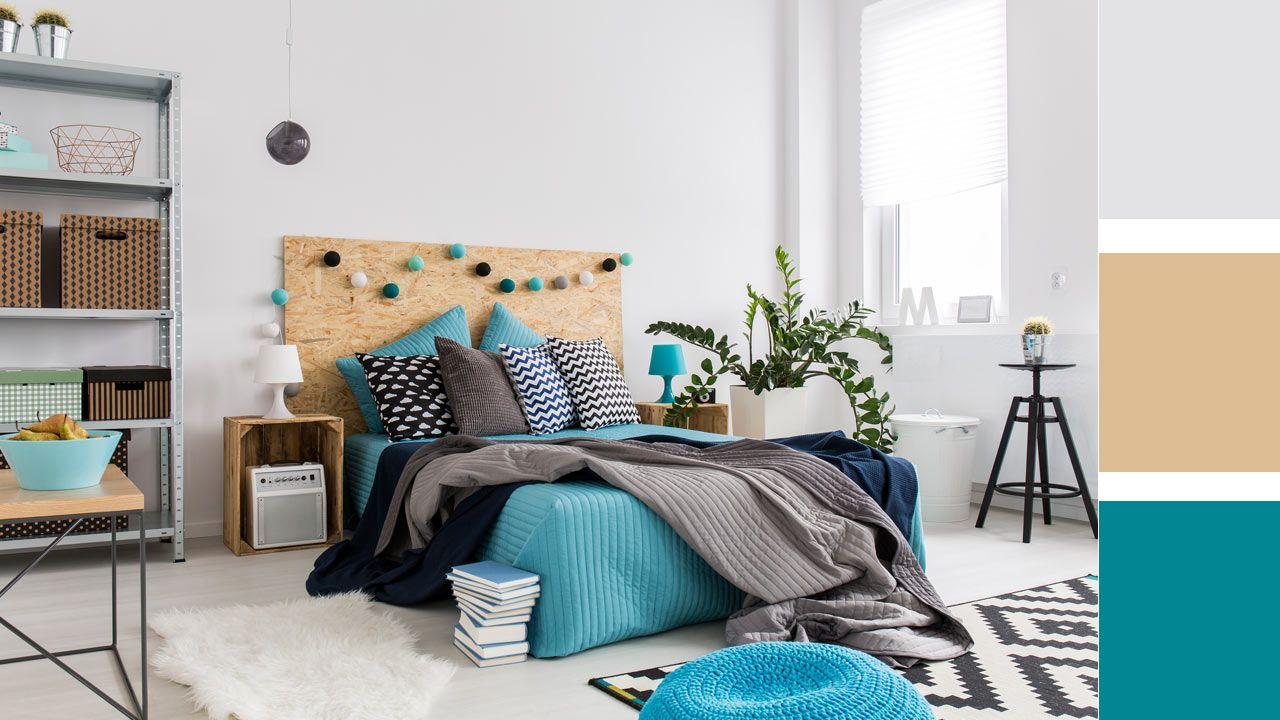 Ejemplos de inspiración para combinar colores en el dormitorio
