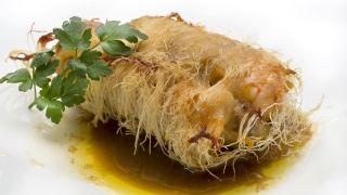 receta de muslos de pollo rellenos de mar y montaña
