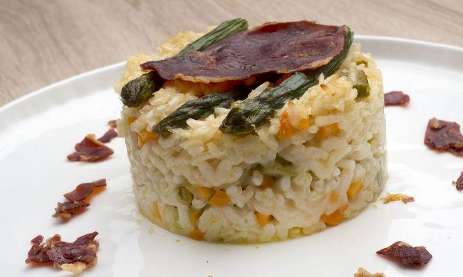 Risotto de verduras al horno