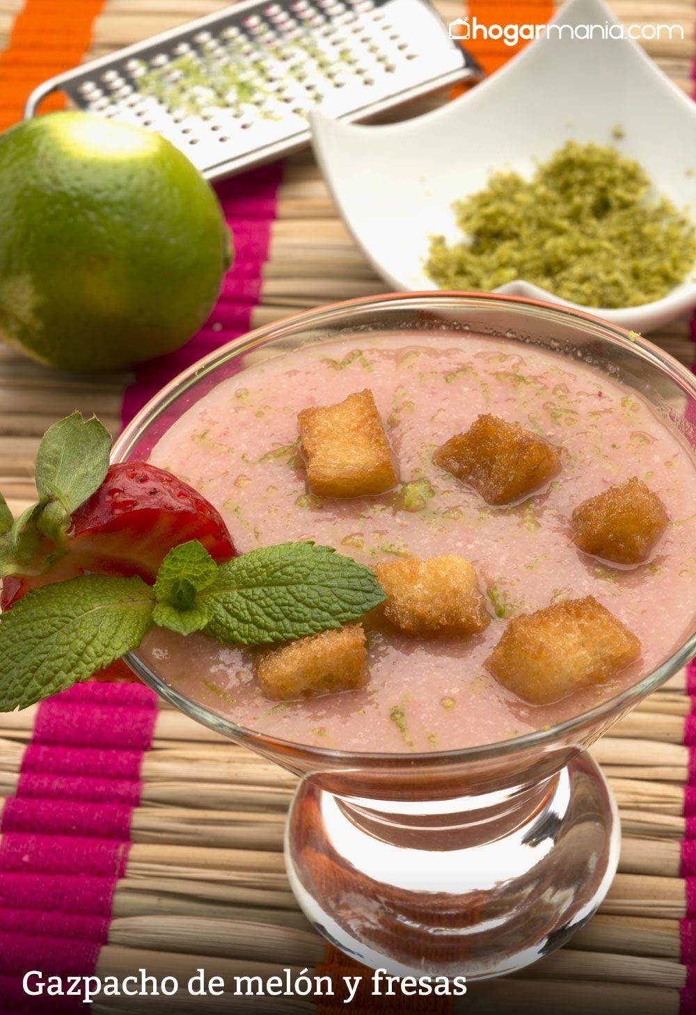 Gazpacho de melón y fresas