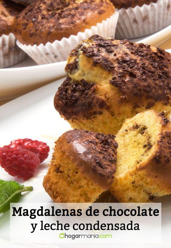 Receta de Magdalenas de chocolate y leche condensada