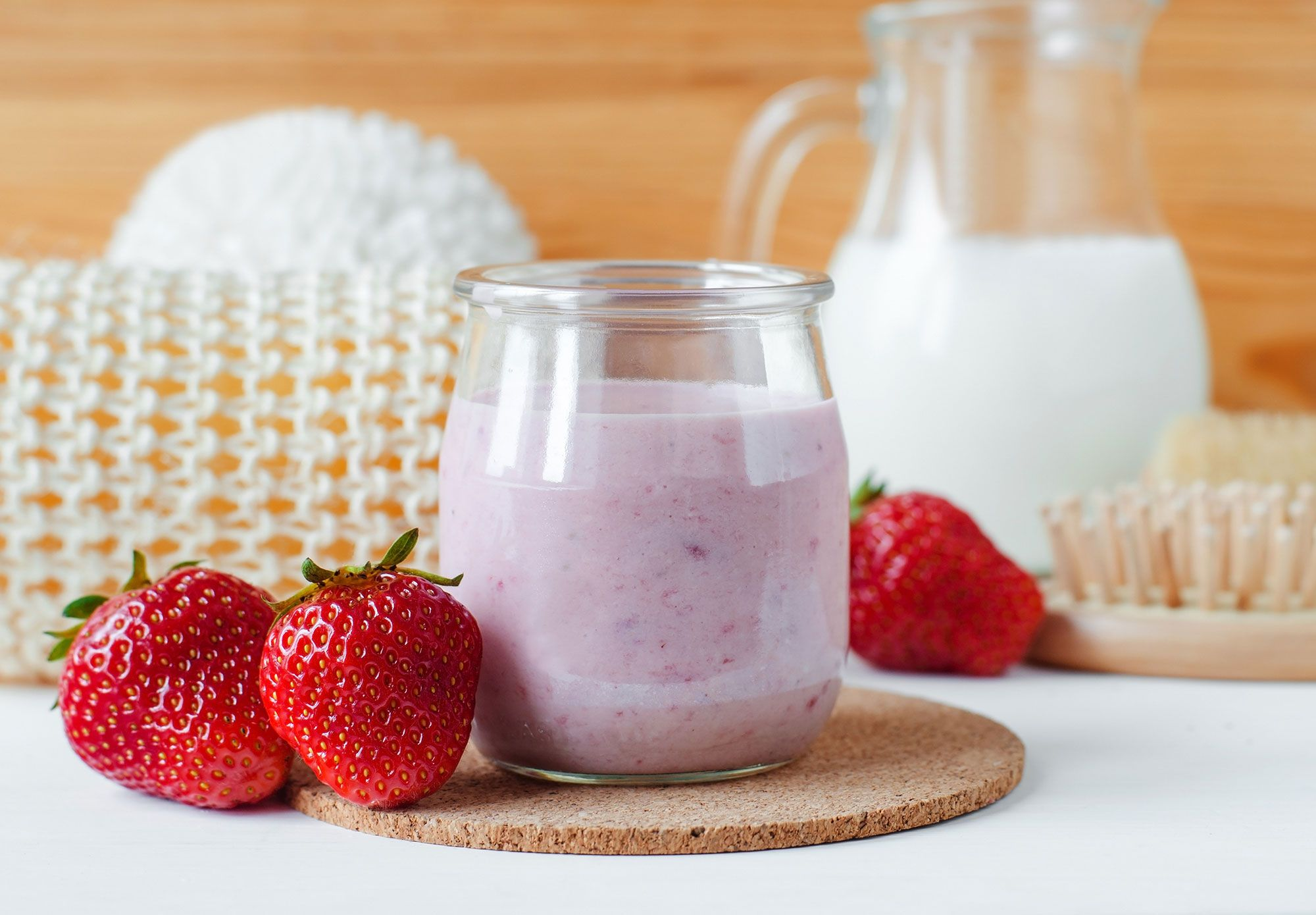 mascarilla fresas yogur avena