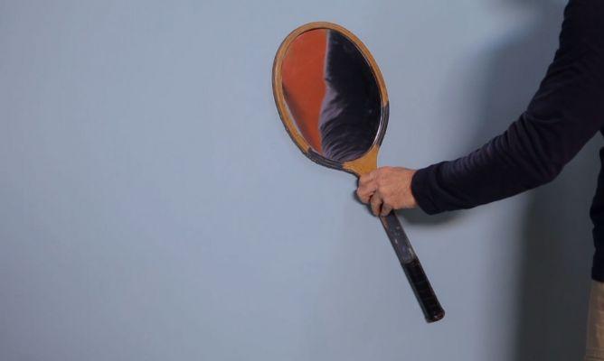 C mo hacer un espejo con una raqueta bricoman a for Como hacer un espejo