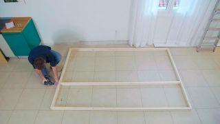 Cómo colocar un tabique de madera