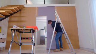 Cómo instalar puerta corredera en tabique de madera