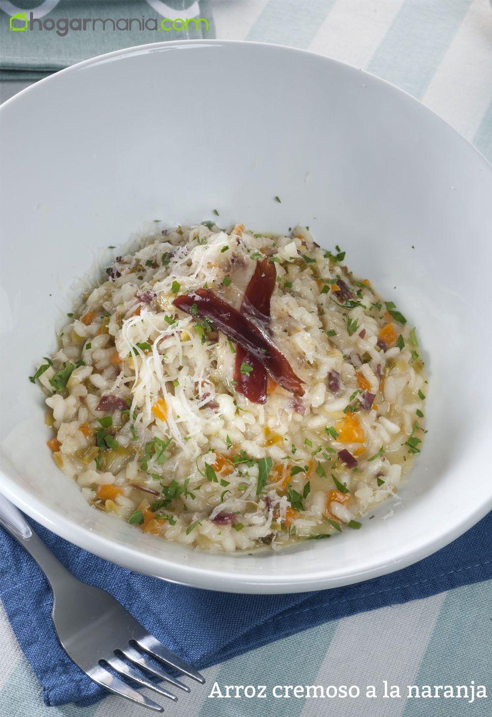 arroz cremoso a la naranja