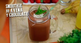 Smoothie de avena y chocolate