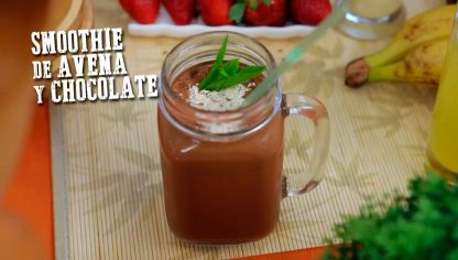 Receta de Smoothie de avena y chocolate