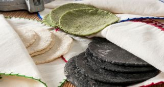 Tortillas de ma�z de colores