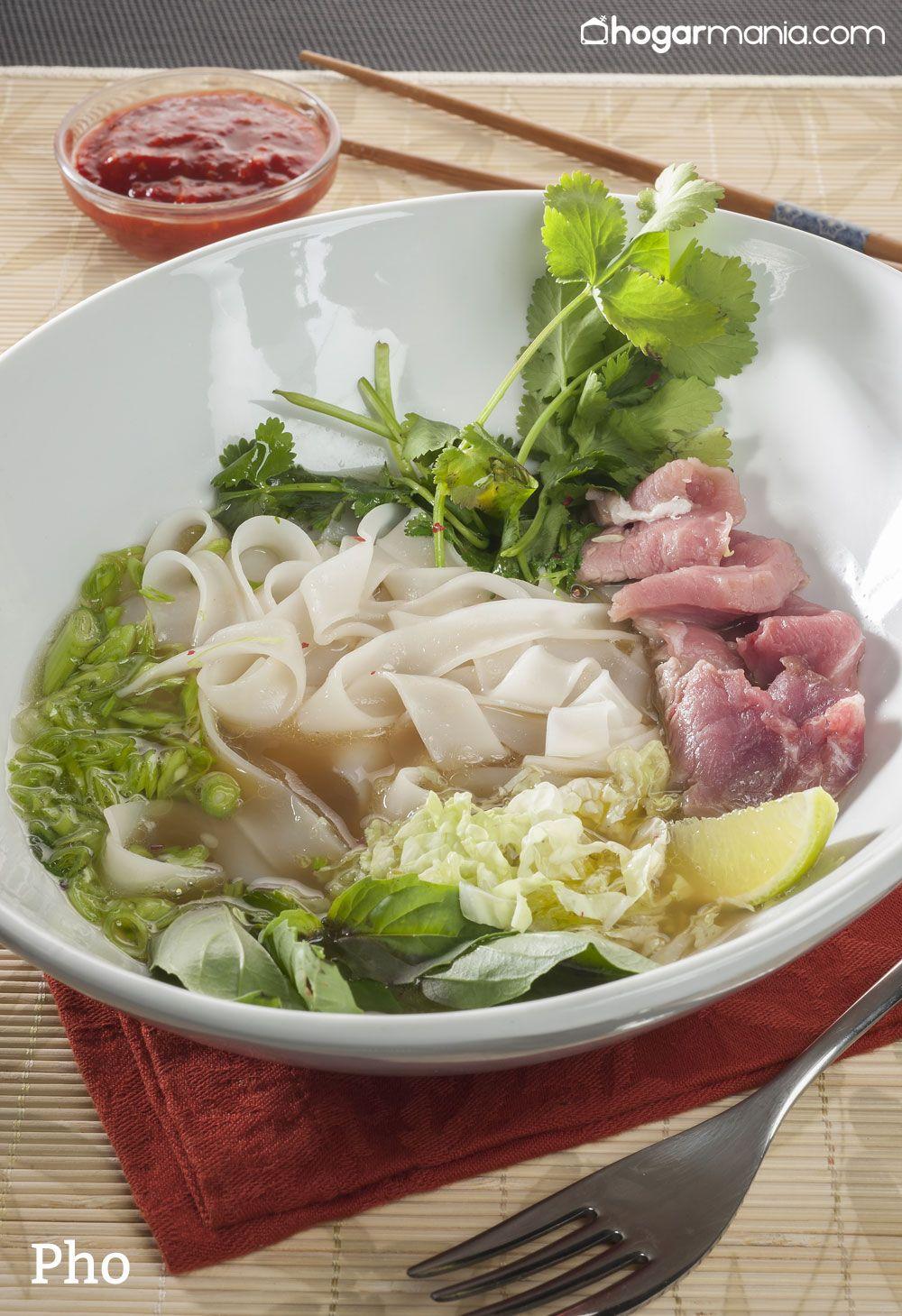pho sopa de fideos de arroz y carne de ternera