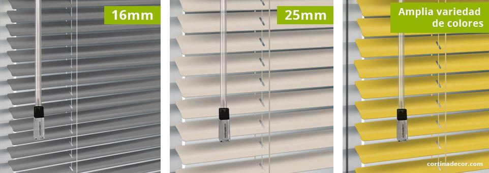 Cortinas venecianas de aluminio para las ventanas
