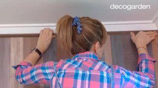 Decorar un dormitorio juvenil rústico en color rosa, ¡con estores de mandalas! - Paso 6