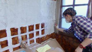 Cuarto de baño luminoso con toques marineros - Paso 2