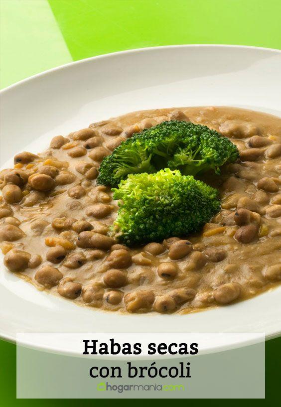Receta de Habas secas con brócoli