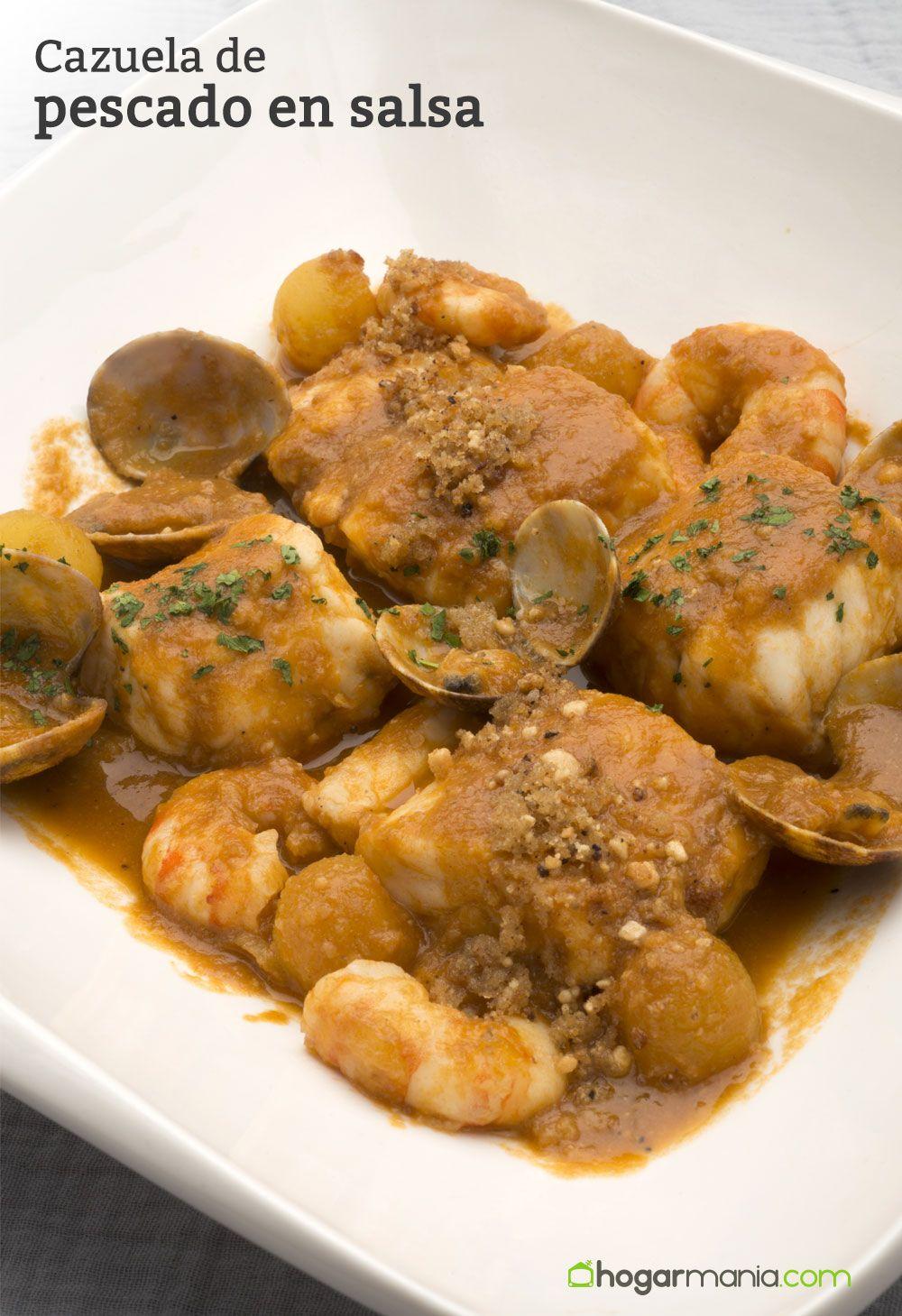 Cazuela de pescado en salsa