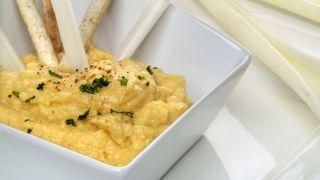 Hummus con crema de cacahuete