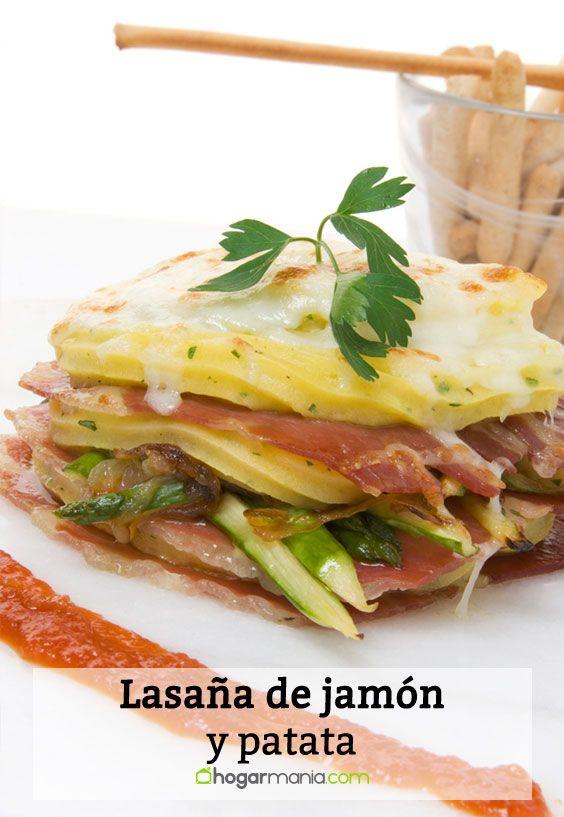 Receta de Lasaña de jamón y patata