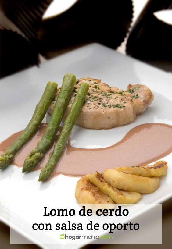 Receta de Lomo de cerdo con salsa de oporto