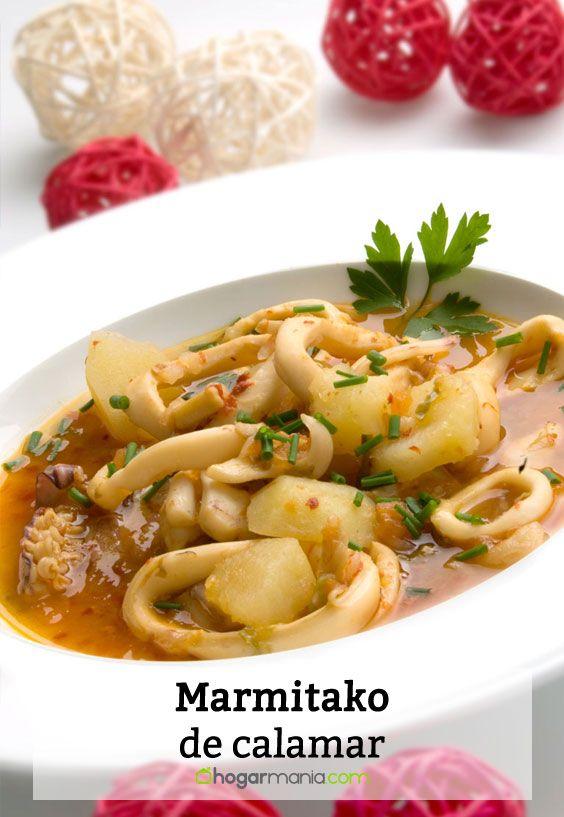 Receta de Marmitako de calamar