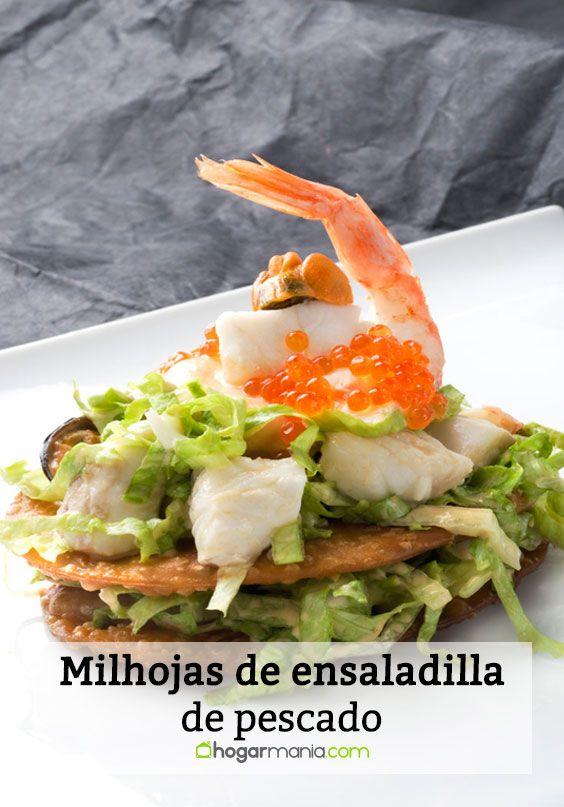 Milhojas de ensaladilla de pescado