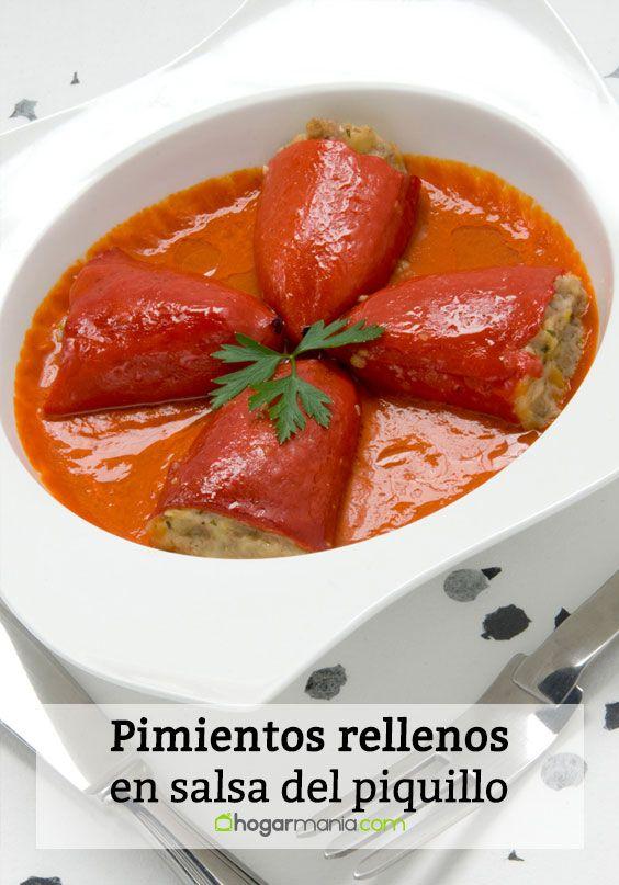 Pimientos rellenos en salsa de piquillo