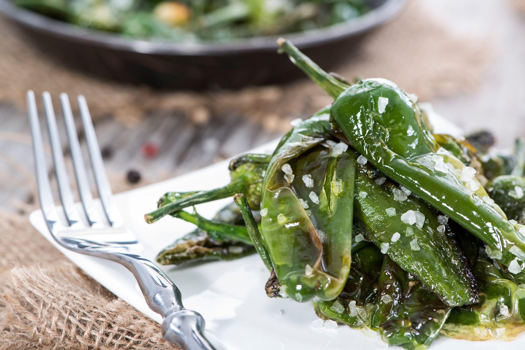Pimientos verdes ricos en antioxidantes y fibra