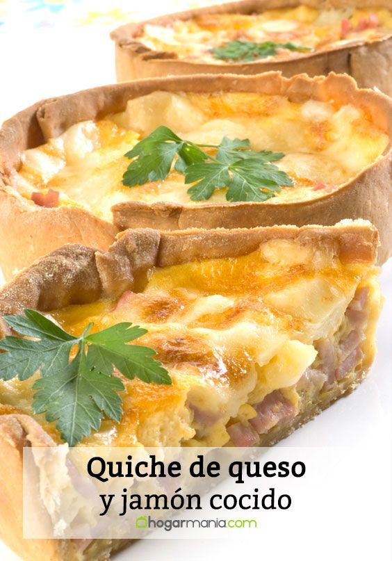 Quiche de queso y jamón cocido