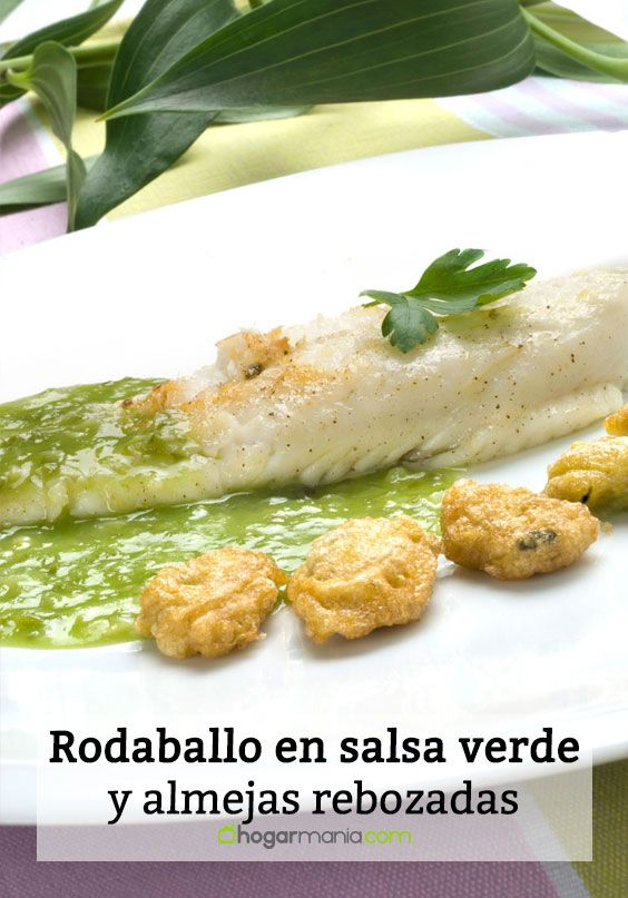 Rodaballo con salsa verde y almejas rebozadas