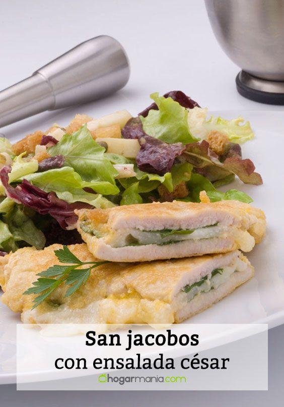 San jacobos con ensalada césar