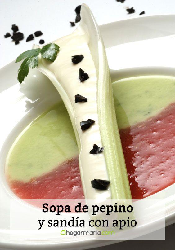 Sopa de pepino y sandía con apio