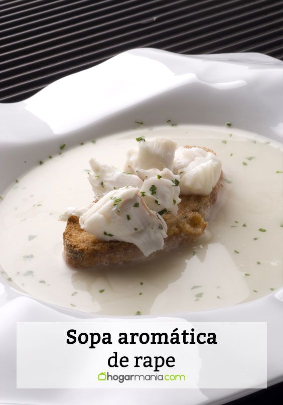 sopa aromática de rape