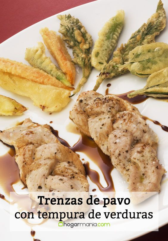 Trenzas de pavo con tempura de verduras