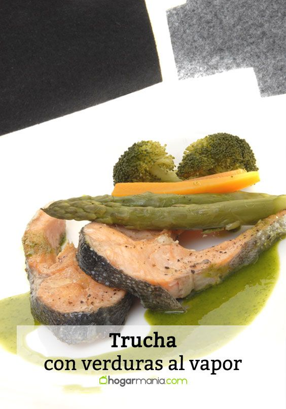 Trucha con verduras al vapor
