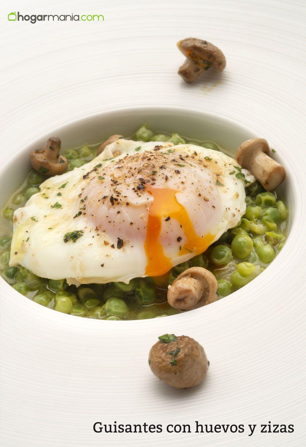 Guisantes con huevos y zizas