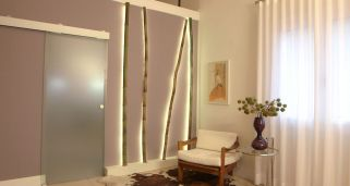 Ca�as de bamb� decorativas y luminosas