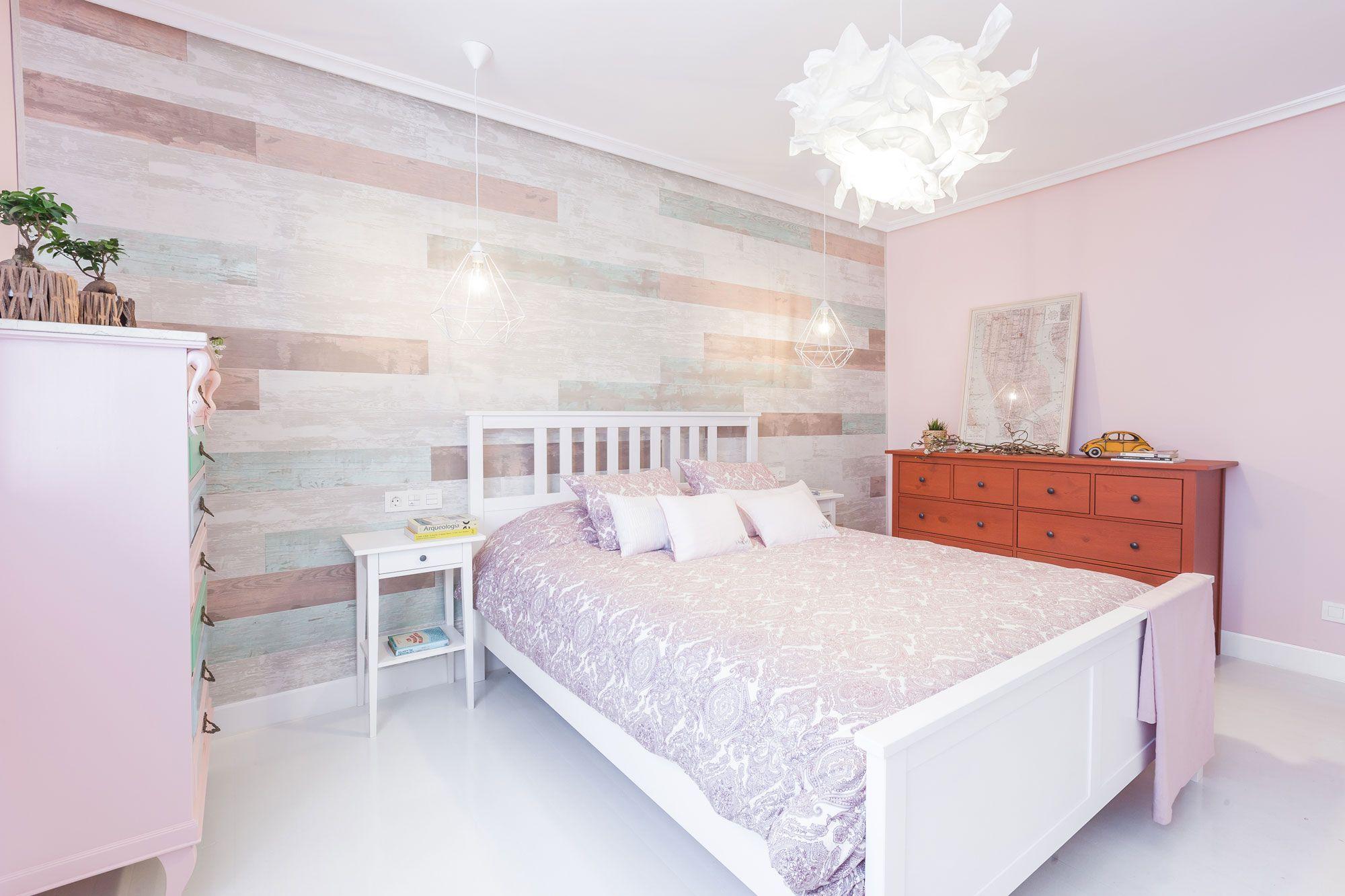 Decorar dormitorio en tonos rosas
