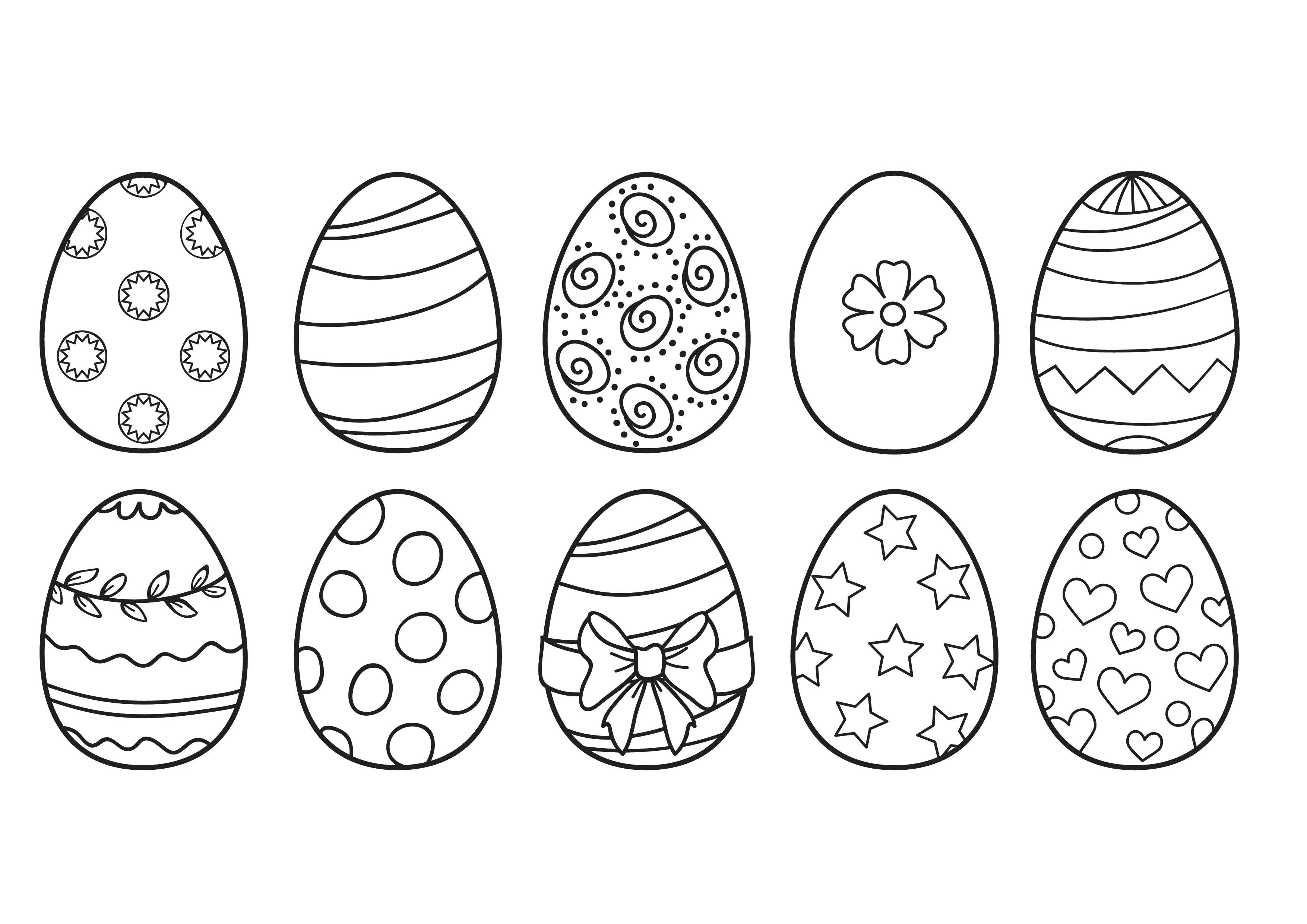 Dibujos de huevos de Pascua para colorear   Hogarmania