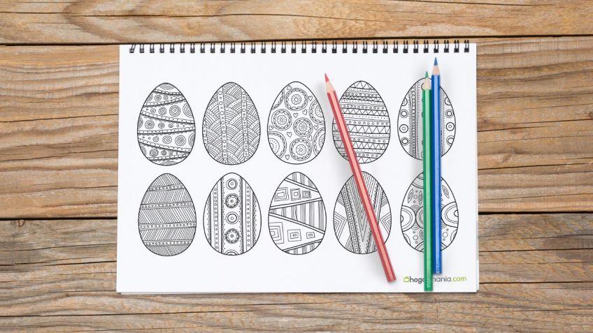 Dibujos de huevos de Pascua para colorear - Hogarmania