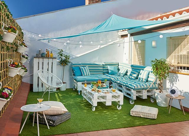 Ideas para decorar una terraza urbana hogarmania - Como decorar mi terraza ...