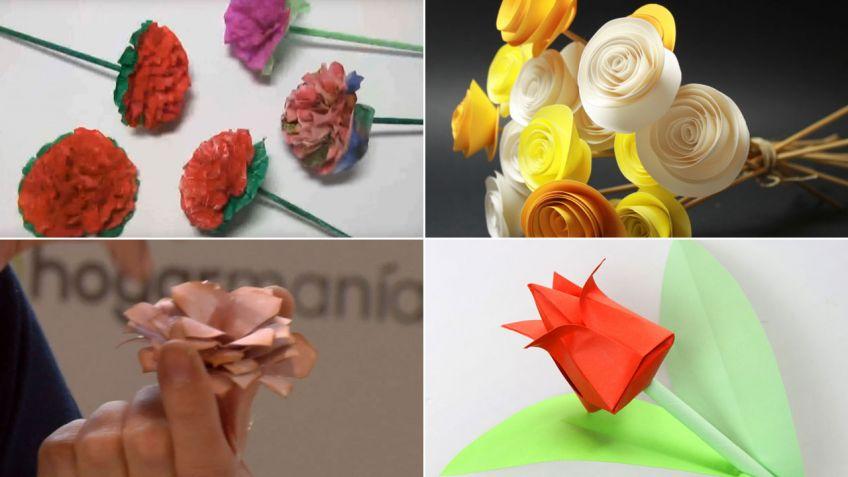 Ideas Para Hacer Flores De Papel Hogarmania - Hacer-flores-con-papel
