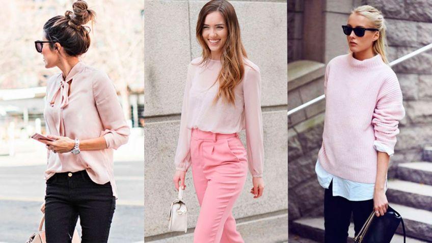 cf2dae21b Cómo llevar la moda color rosa palo