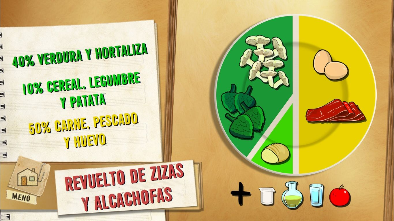 Revuelto de zizas y alcachofas