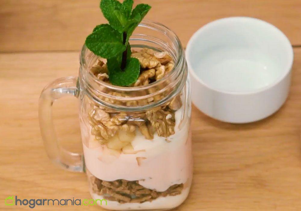 desayuno fibra pera nueces