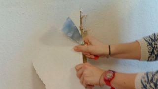 Retirar el papel pintado muy pegado