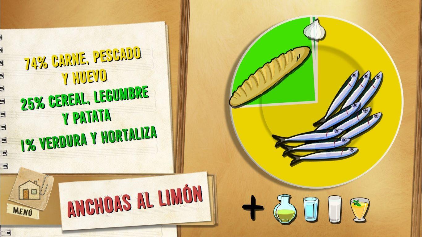 plato anchoas al limón