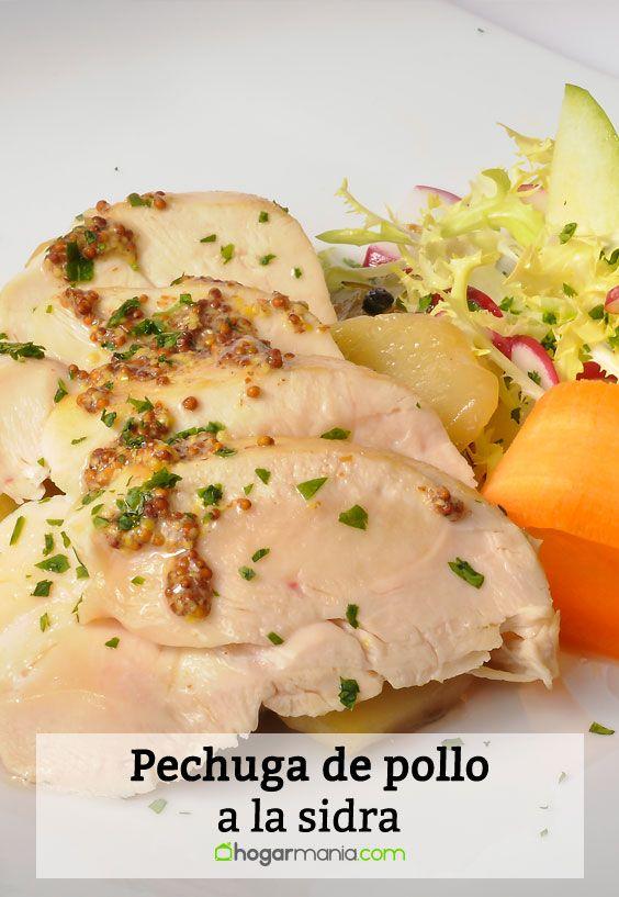 Receta de Pechuga de pollo a la sidra