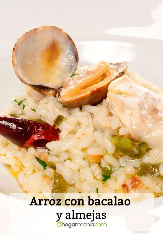 Receta de Arroz con bacalao y almejas