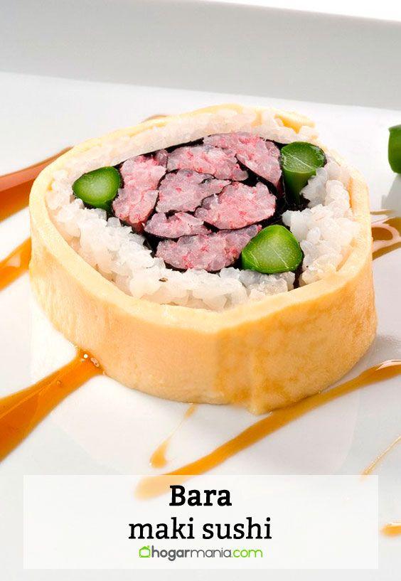 Receta de Bara maki sushi