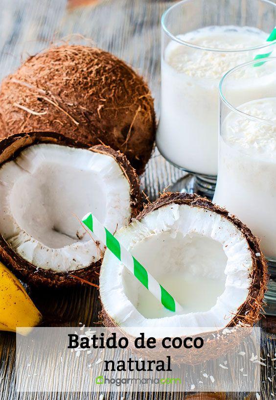 Batido de coco y plátano natural